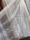 Тюль сетка жаккард вензель белый 250*420 м  ст-2