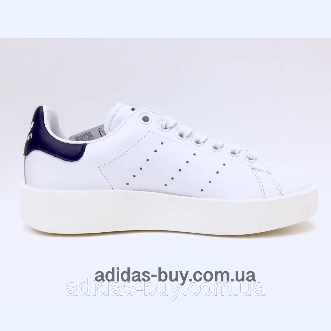 10b861d05 Женские кожаные осенние кроссовки adidas STAN SMITH BOLD BA7770 оригинальные