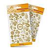 Наклейка пасхальная для яиц (Цветы), Золотые  Альт уп20 ящ500