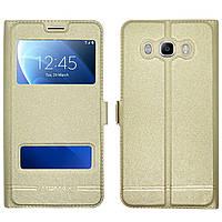 Чехол-книжка Moмax for Samsung J7 gold