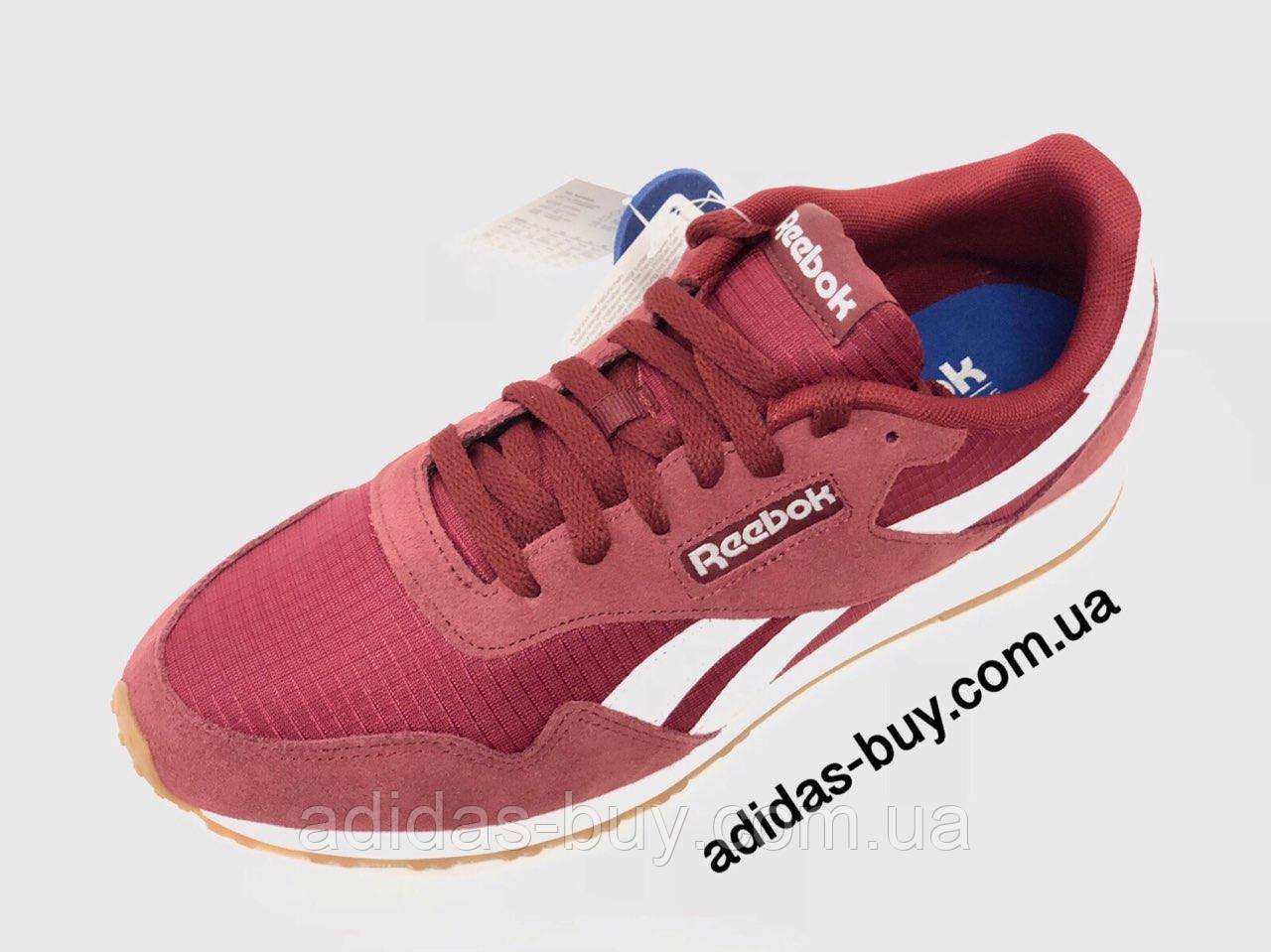 Мужские осенние кроссовки Reebok Royal Ultra из замша цвет бордовый артикул CN4565 оригинальные