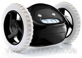 Будильник убегающий на колесиках Alarm Clocky Run черный