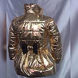 Детская куртка плащ Кокетка с бантом на рост 116-134см, фото 7
