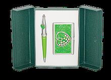 """Набор подарочный """"Crystal Heart"""": ручка шариковая + визитница"""