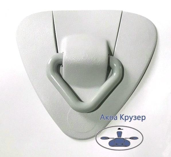 Буксировочный узел с кольцом (кольцо пластик) для надувной лодки ПВХ - цвет серый
