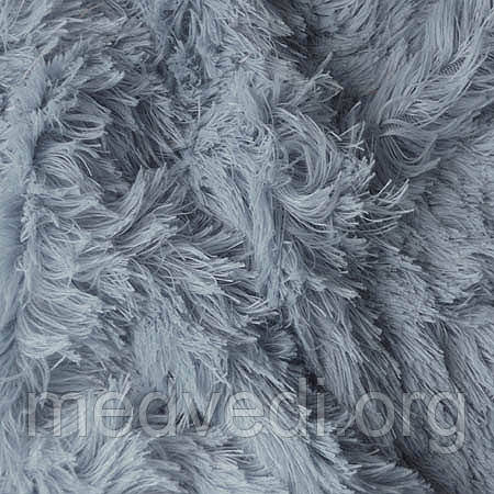 Серый мех-травка ткань для пошива игрушек