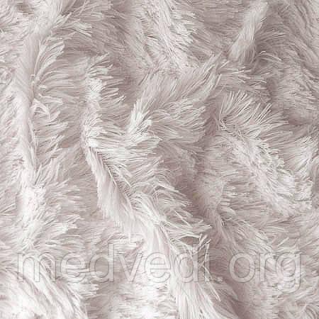 Белый мех-травка, ткань для пошива игрушек