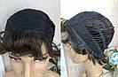 Натуральный парик женский. Короткая стрижка. Коричневый волос., фото 4