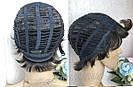 Натуральный парик женский. Короткая стрижка. Коричневый волос., фото 8