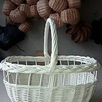 Пасхальная корзина из белой лозы, фото 1