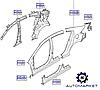 Крыло заднее правое Hyundai Elantra 2016- (AD)