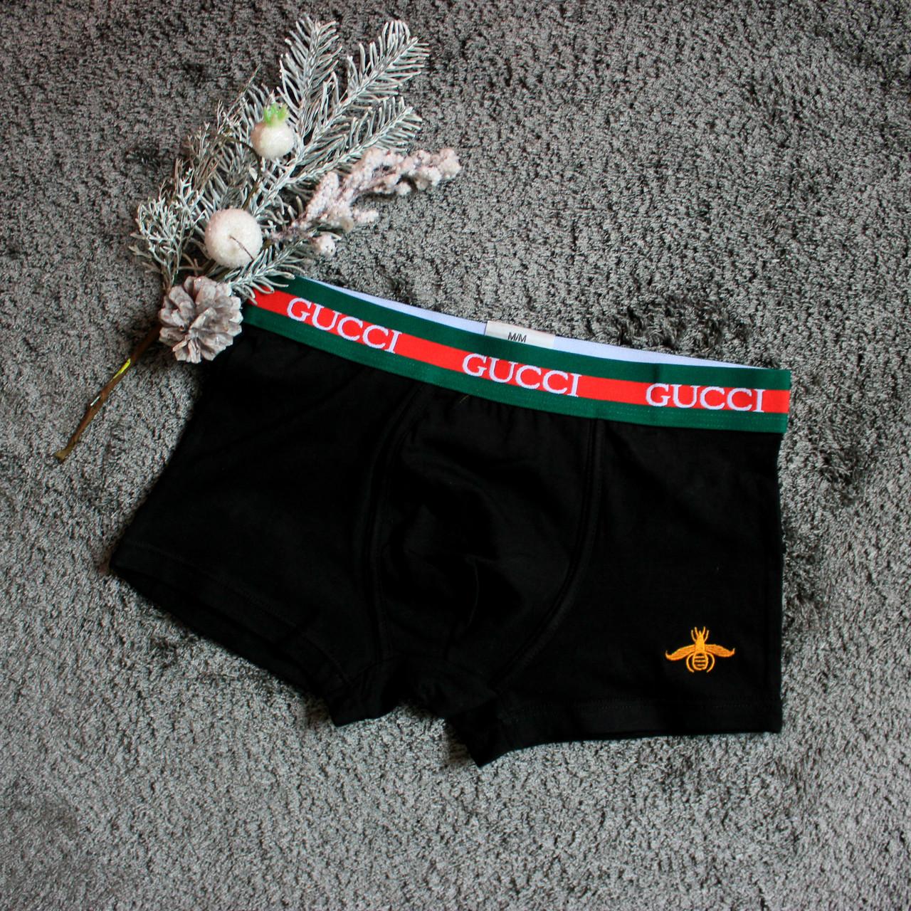 00c193b0fe803 Трусы мужские Gucci черные 100% хлопок, цена 169 грн., купить в Киеве —  Prom.ua (ID#893493806)