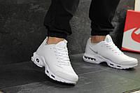 Кроссовки найк аир макс тн белые кожаные демисезонные (реплика) Nike Air Max  TN White 84913aed78a5b