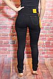Женские черные  джинсы с высокой посадкой (талией) американка ( код 440) 25-30разм, фото 2