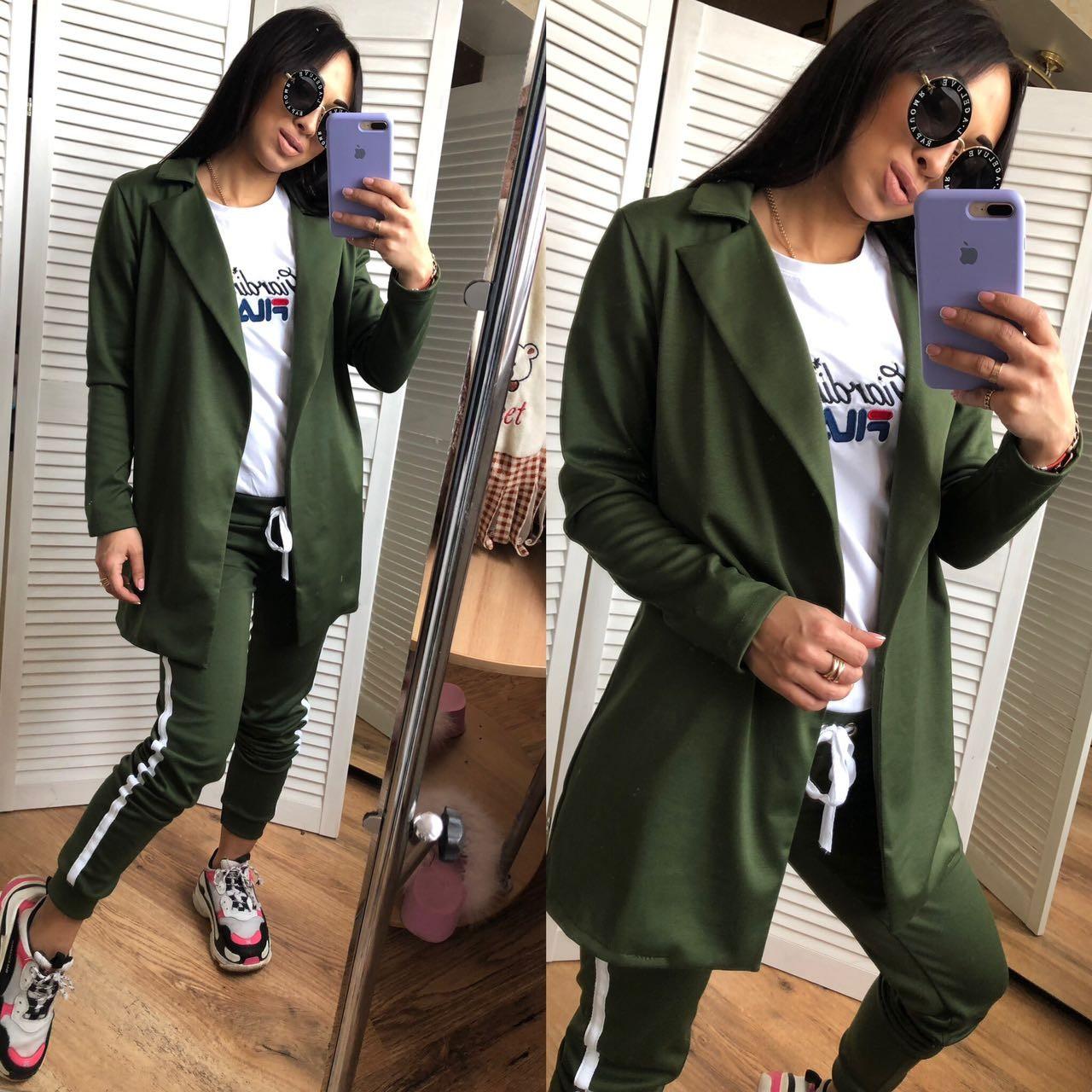 Женский костюм пиджак и брюки