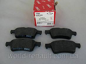 Комплект задних тормозных колодок Рено Лагуна III / TRW GDB1469