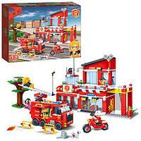 Конструктор BANBAO 7101  пожарная станция, Banbao