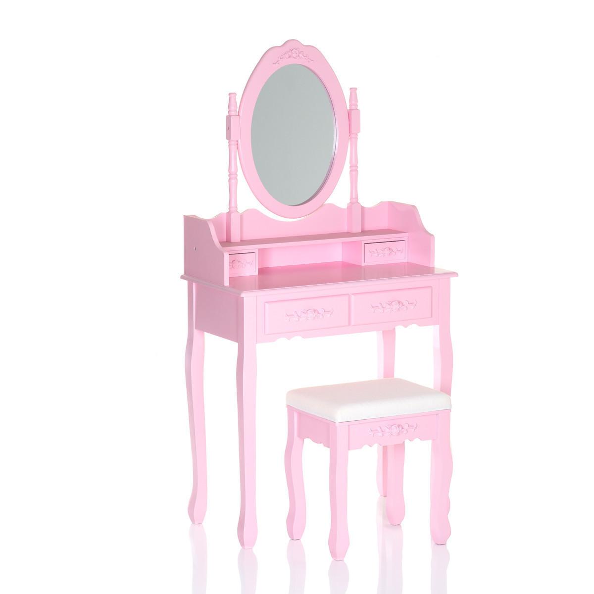 Туалетний столик рожевий + стілець