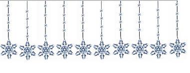 """Новорічна гірлянда """"Сніжинки"""" 100 LED, 4 Метри"""