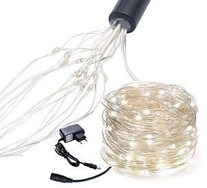 Новорічна гірлянда 200 LED, 20 гілок по 10 світлодіодів кожна
