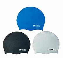 Intex Шапочка для плавания, силикон, 8+лет, 3 цвета, 20см