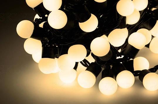 Новогодняя гирлянда 200 LED / 20 м,  белый теплый свет, фото 2