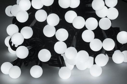 Новогодняя гирлянда 100 LED / 10 м, Белый холодный свет, фото 2