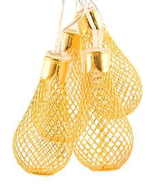 """Новорічна гірлянда """"Золота груша"""" 26 LED, Золоте світло"""