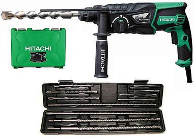 Ударний дриль HITACHI DH26PC + набір з 11 свердел SDS-Plus для бетону