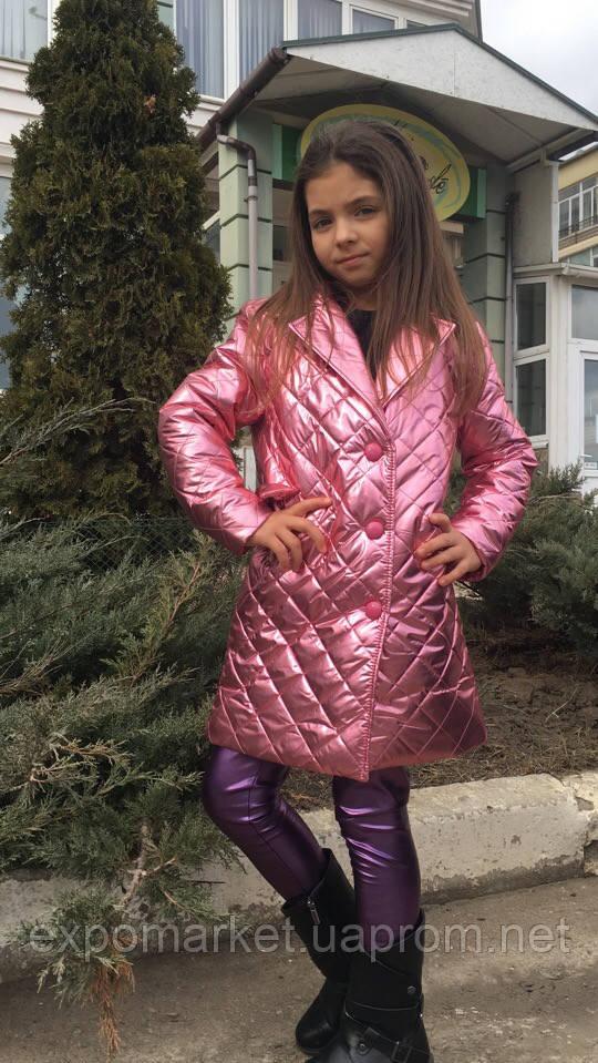 Пальто детское на девочку модное