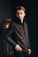Мужская демисезонная куртка СТОУН черная Отличного качества, фото 1