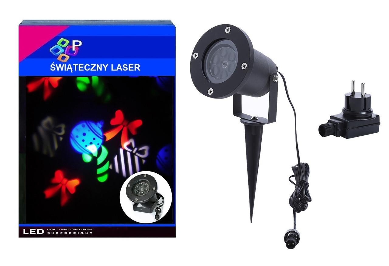 Лазерний проектор з святкової анімації