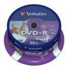 Диски VERBATIM DVD+R 4,7Gb 16x Cake 10pcs