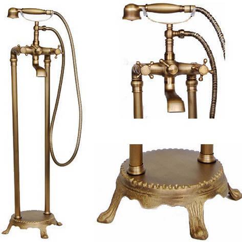 Кран для ванной комнаты смеситель RETRO W-089, фото 2