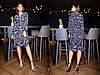 Платье с  женственным  фасоном и цветочным принтом.  Размер:С,М. Цвета разные (2418), фото 4