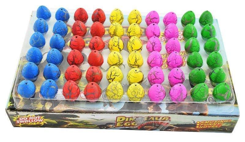 Яйца динозавра игрушки на ёлку растущие в воде набор из 60 шт