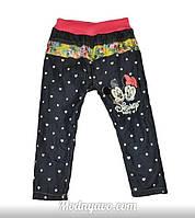 Детские утепленные джинсы с Микки и Минни