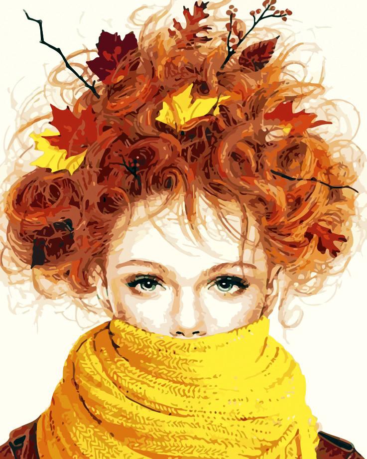 Художественный творческий набор, картина по номерам Девушка-осень, 40x50 см, «Art Story» (AS0195)