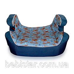 Автокресло-бустер синий Lorelli VENTURE 15-36 KG BLUE CUTE BEARS