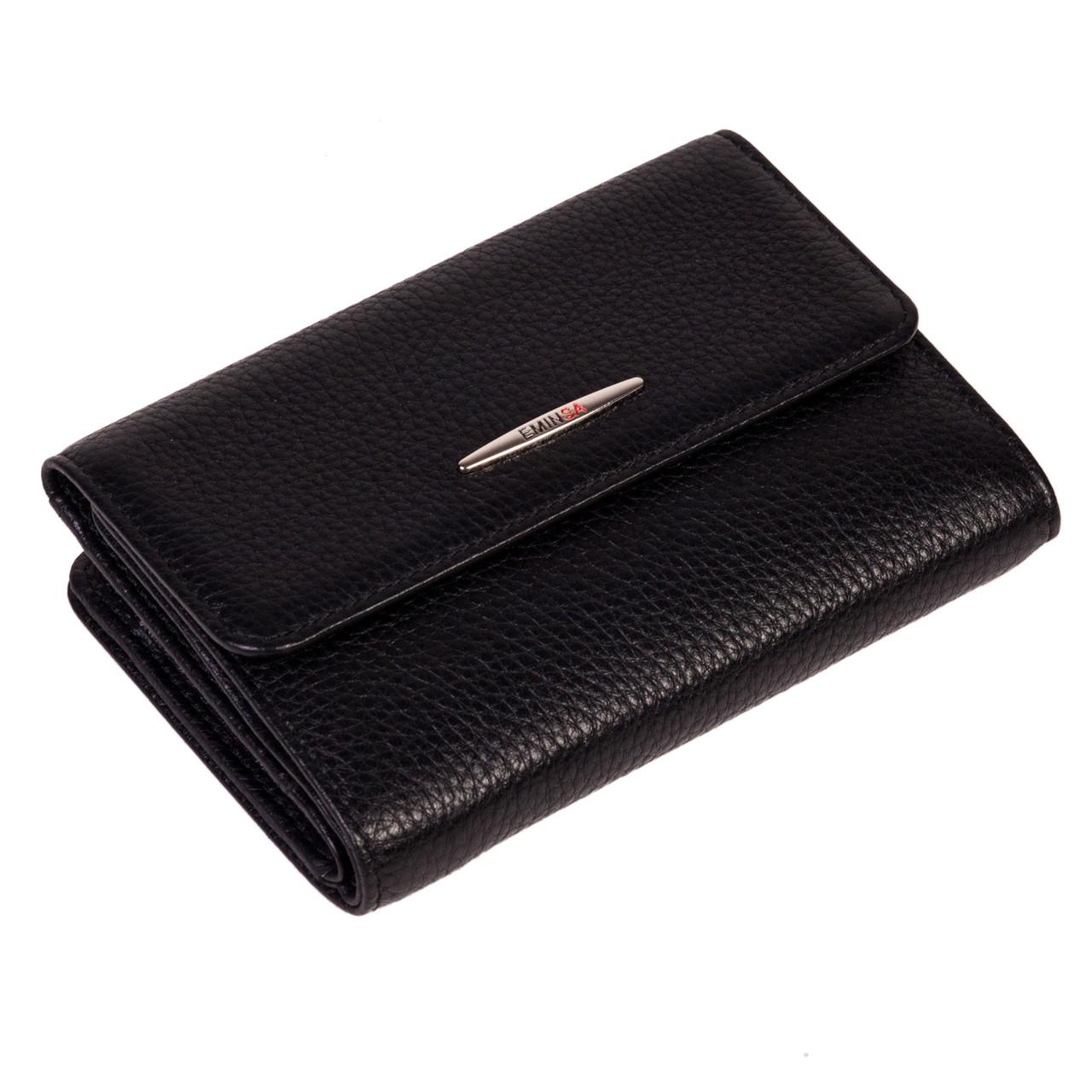 Женский кошелек Eminsa 2147-18-1 кожаный черный