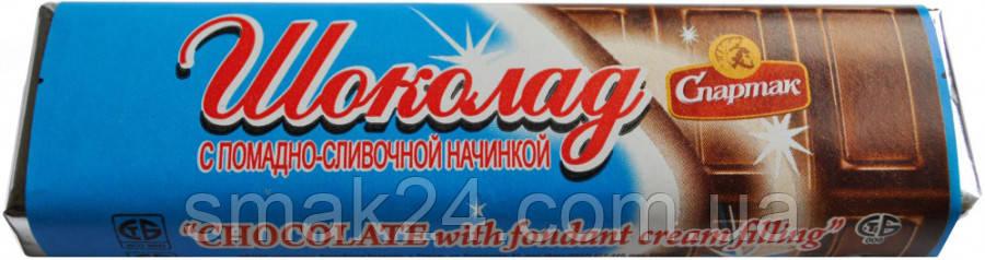 Шоколад темный с помадно-сливочной начинкой Спартак 48 г Беларусь