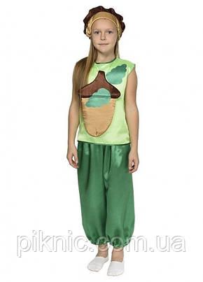 Костюм Желудь для детей 4,5,6,7,8,9 лет. Детский карнавальный костюм Жолудь для мальчиков и девочек!, фото 2