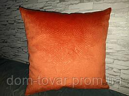 Подушка декоративная 45х45 оранжевая