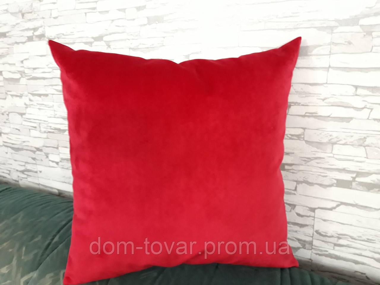 Подушка декоративная 45х45 красная
