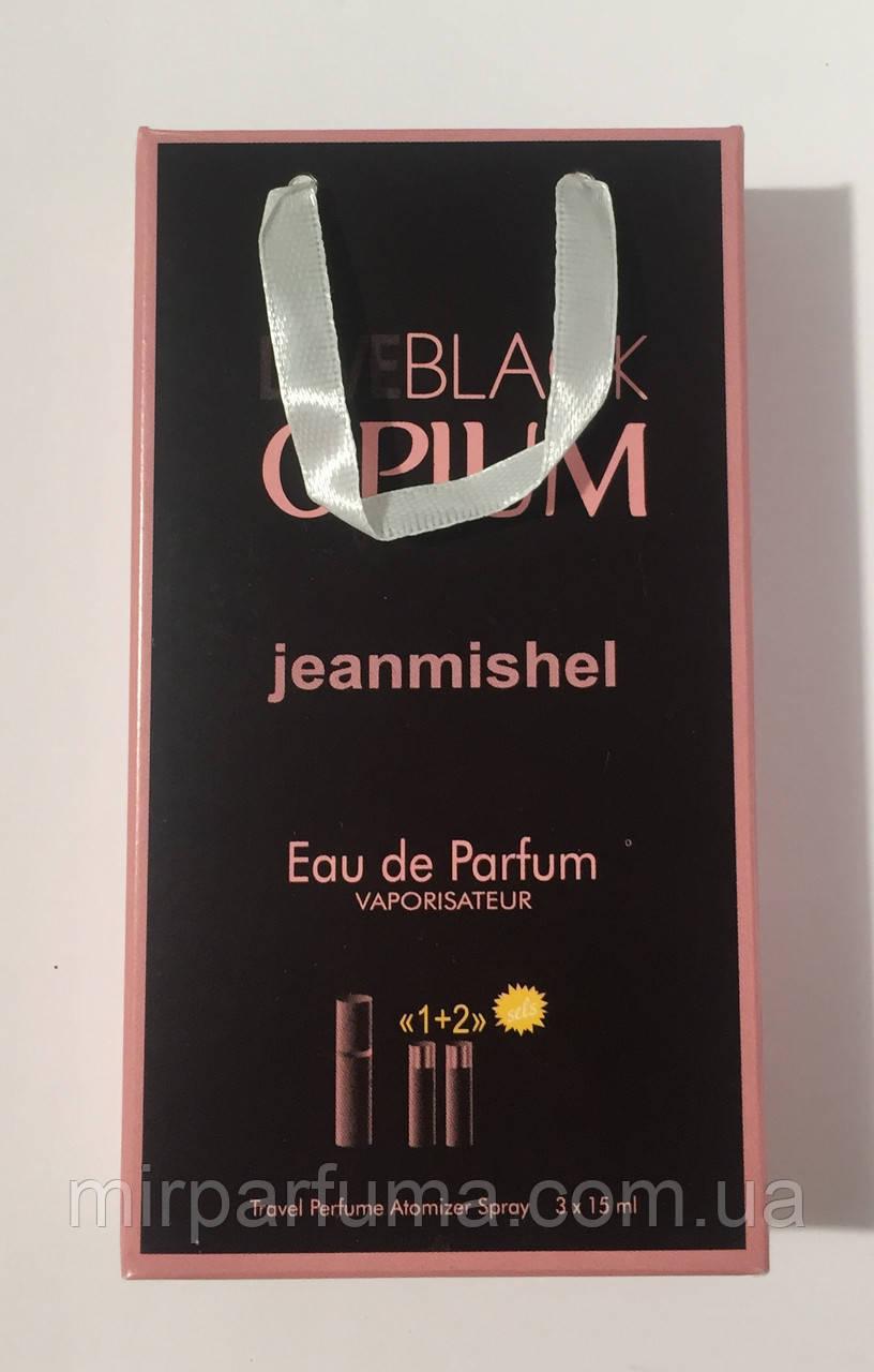 Женский сладкий парфюм jeanmishel Love Black Opium 45ml опт