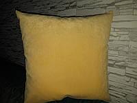 Подушка декоративная 45х45 желтая