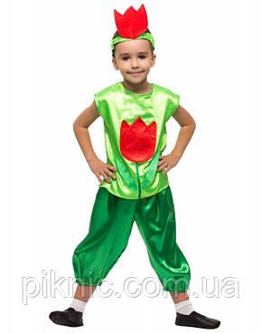 Костюм Тюльпана для мальчика 4,5,6,7,8,9 лет. Детский карнавальный костюм на праздник Весны, фото 2