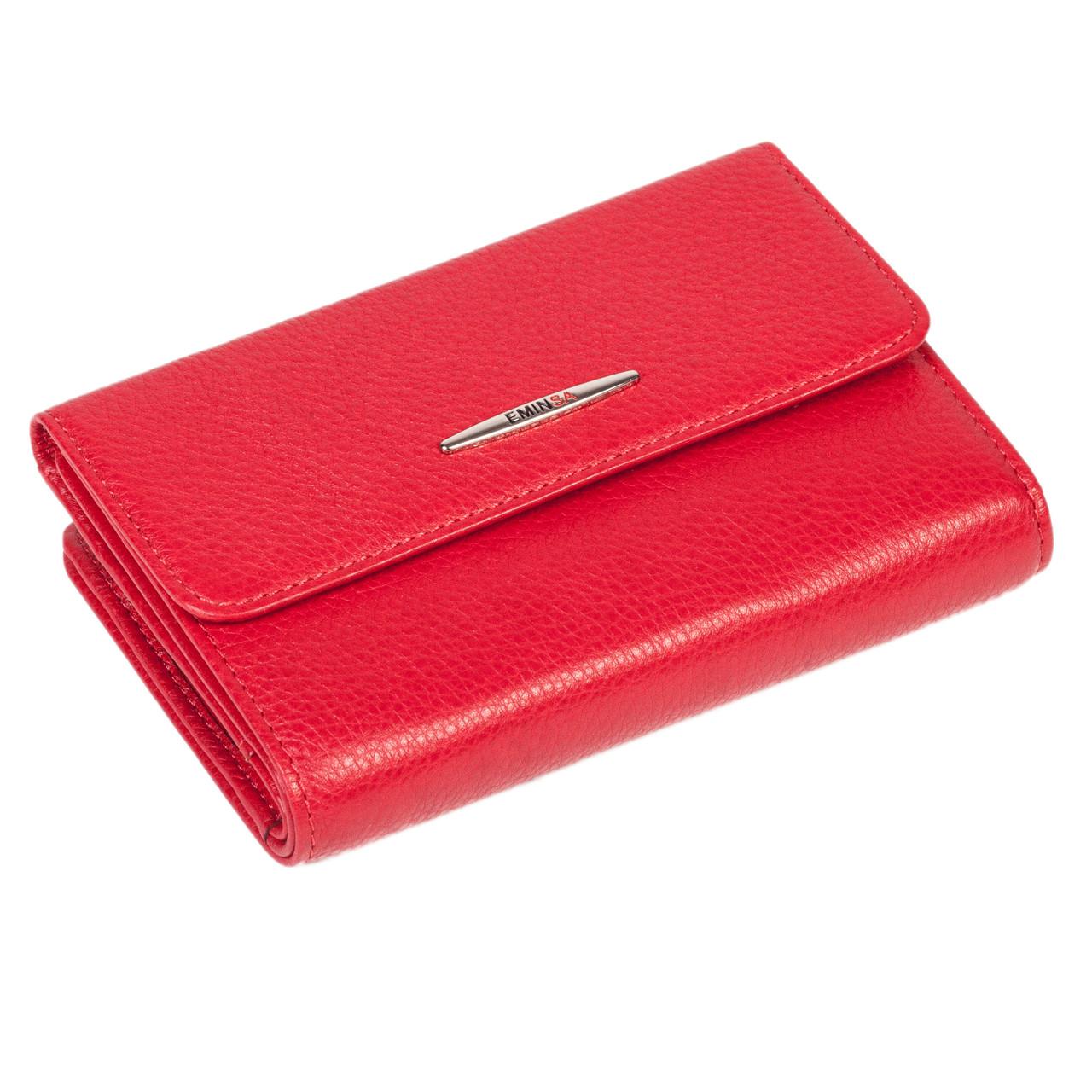 Жіночий гаманець Eminsa 2147-18-5 шкіряний червоний