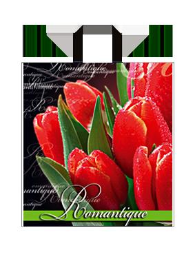 """Пакет з петлевий ручкою середній """"Романтика"""" (35х38+3)80 мкм 25шт/упаковка"""