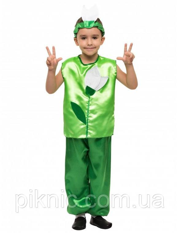 Костюм Подснежник для мальчика 4,5,6,7,8,9 лет. Детский карнавальный костюм на праздник Весны Пролісок